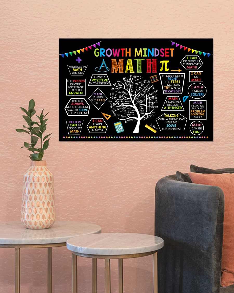 growth mindset tree math poster 3