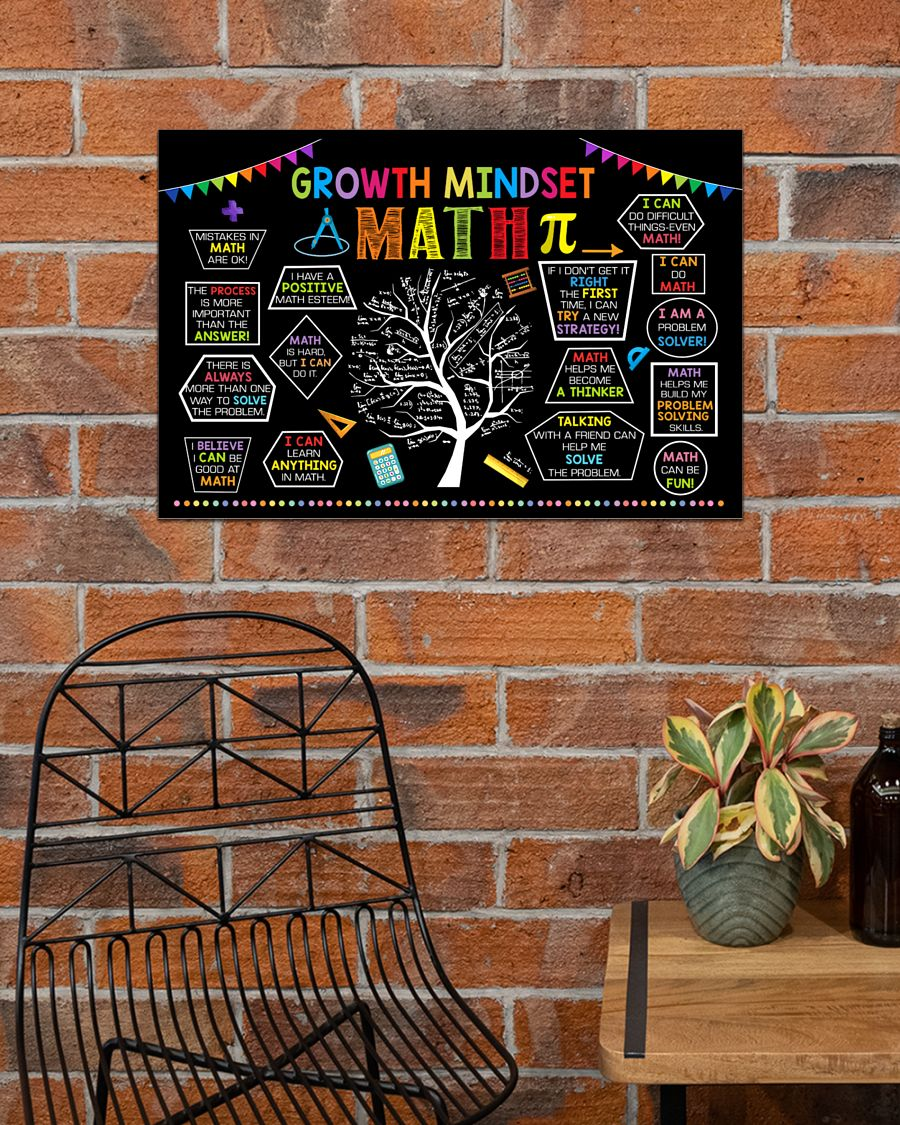 growth mindset tree math poster 4