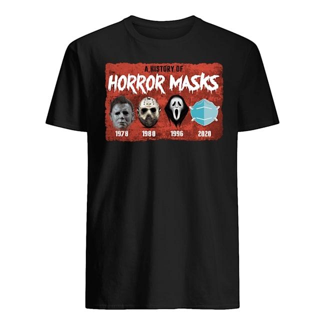 halloween a history of horror masks shirt 1