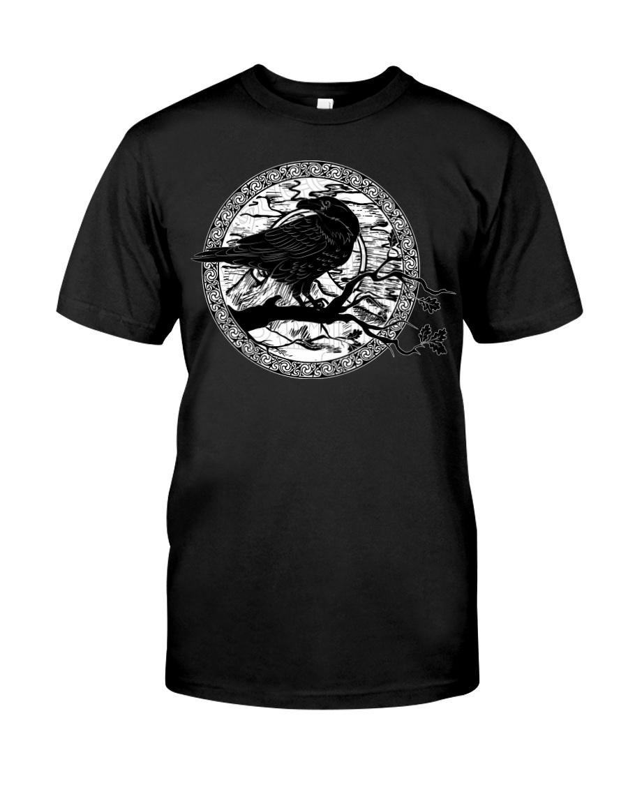 halloween evil raven viking shirt 1