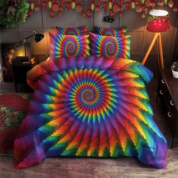 hippie tie dye bedding set 1