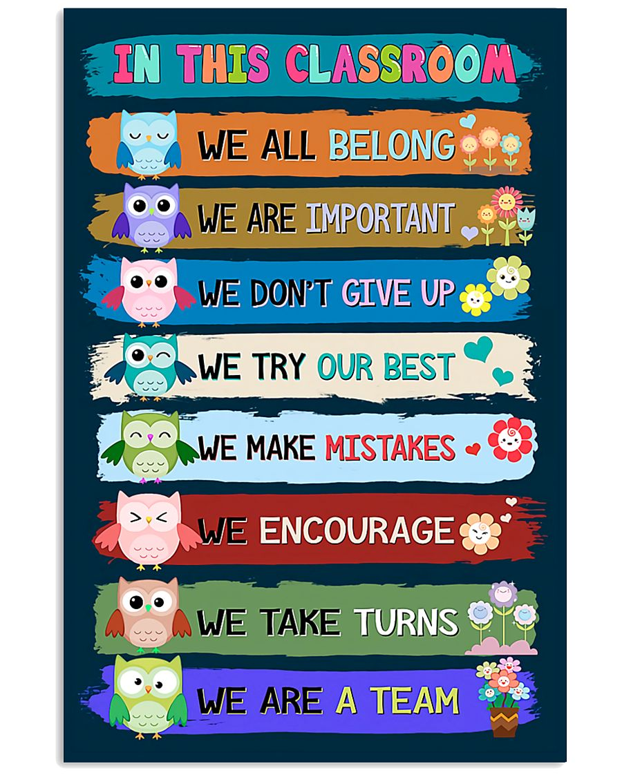 in this classroom we all belong we are a team back to school poster 1
