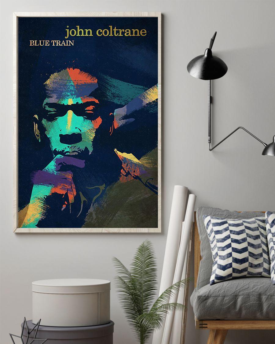 john coltrane blue train watercolor retro poster 2