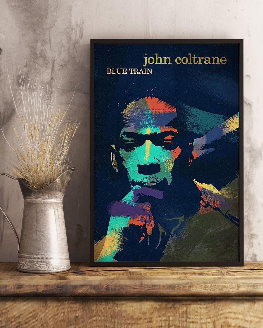 john coltrane blue train watercolor retro poster 3