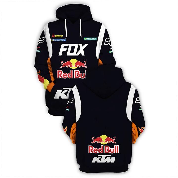 ktm motorex red bull motorcycle racing team full printing hoodie 1
