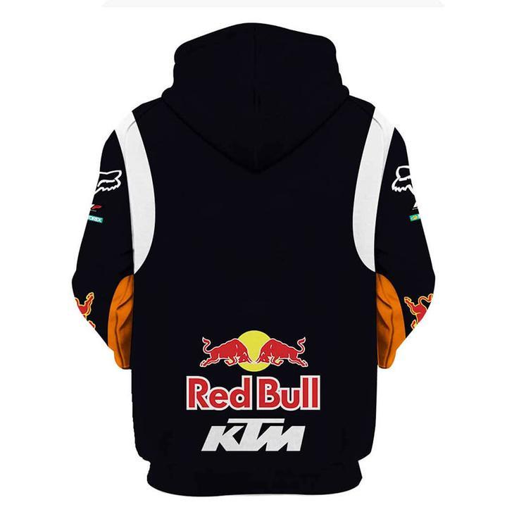 ktm motorex red bull motorcycle racing team full printing hoodie