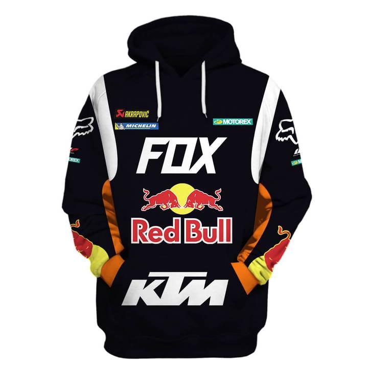 ktm motorex red bull motorcycle racing team full printing shirt 1