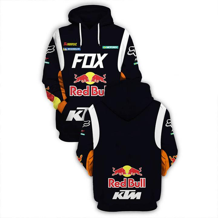 ktm motorex red bull motorcycle racing team full printing shirt 2