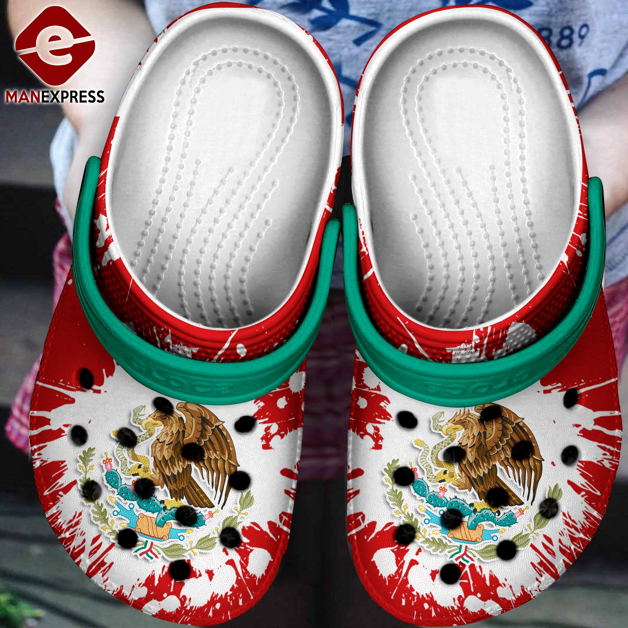 mexico flag crocs 1