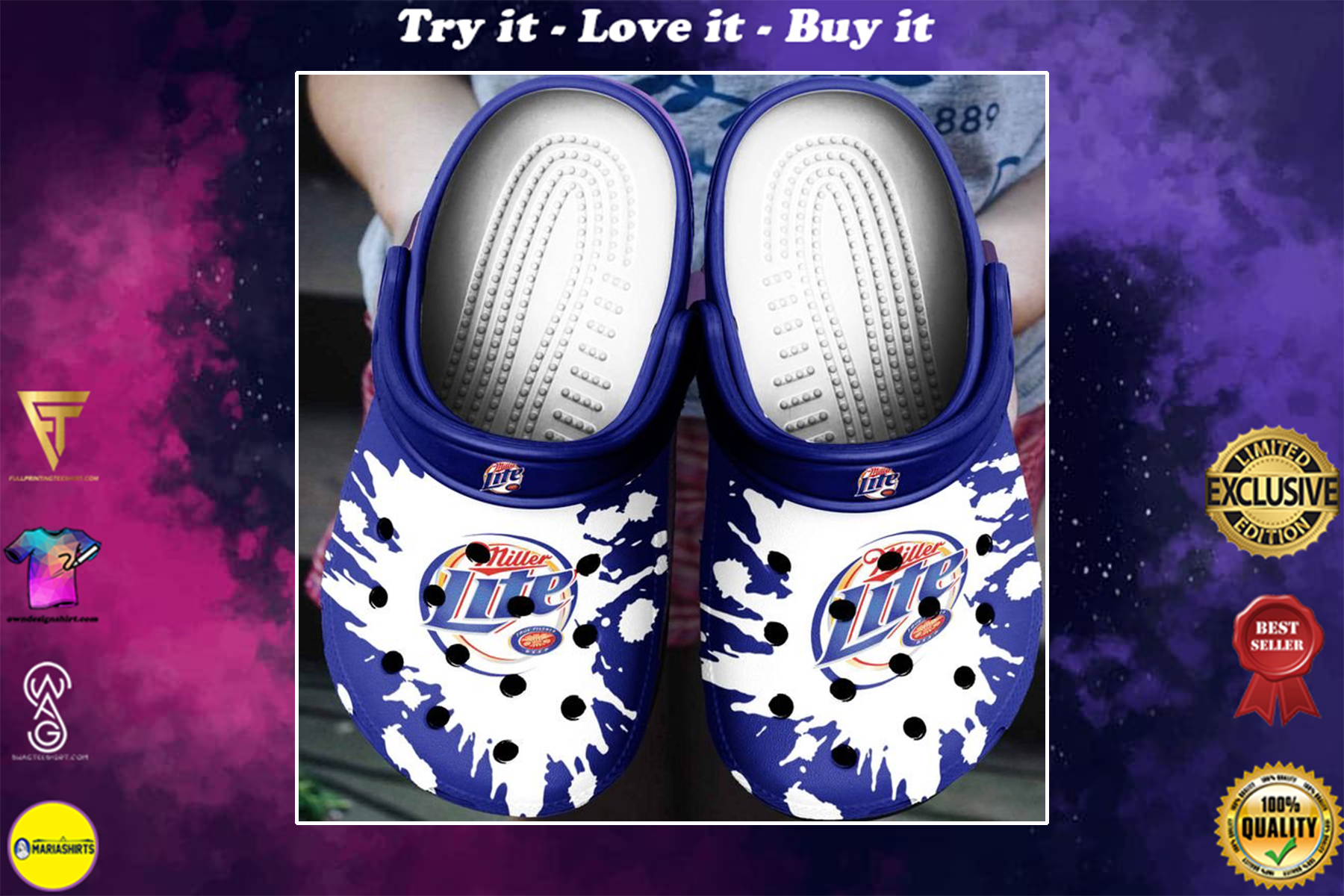 miller lite beer crocs - Copy