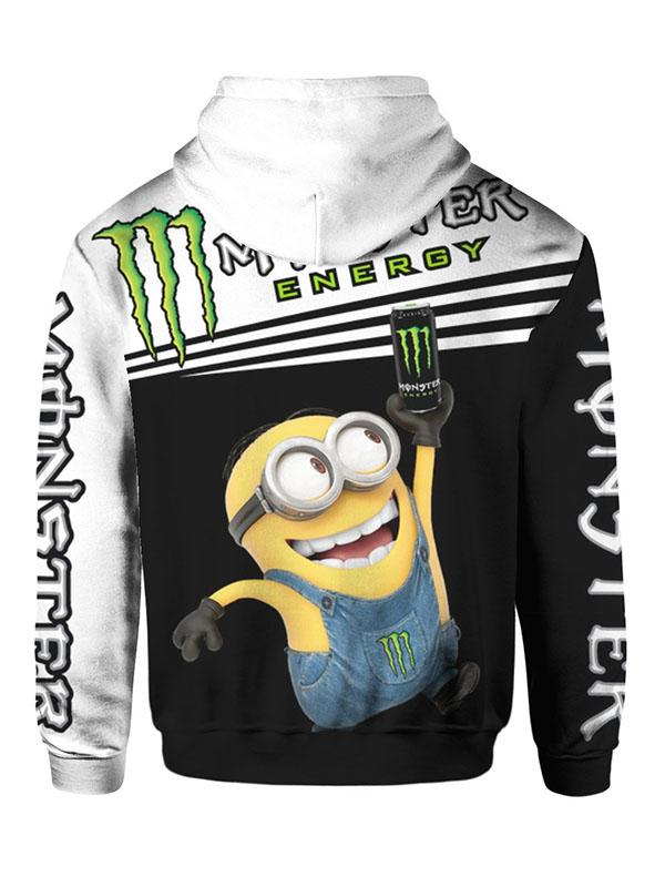 minions and monster energy full printing hoodie 1