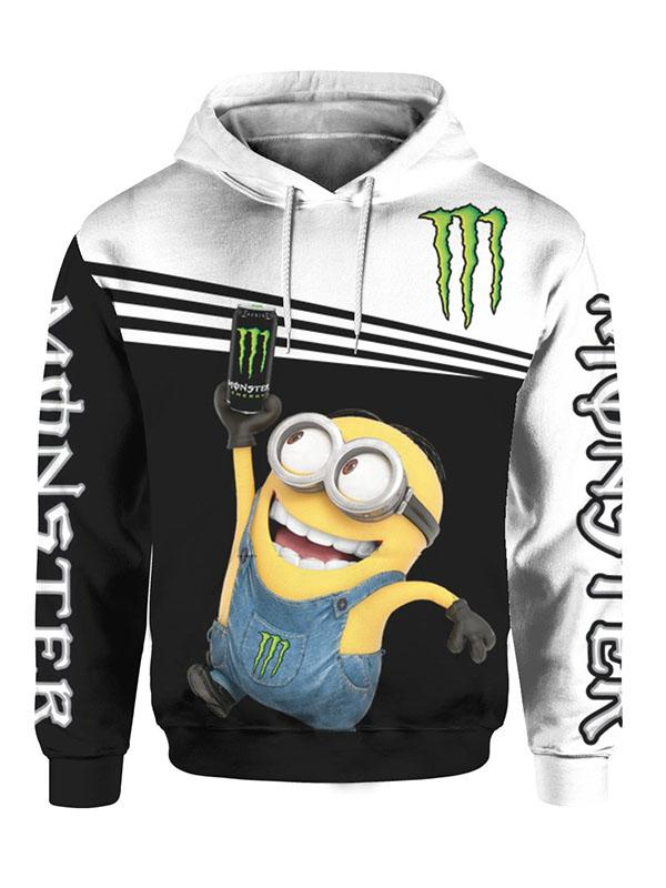 minions and monster energy full printing shirt 2