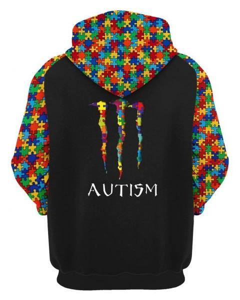 monster energy autism awareness full printing hoodie 2