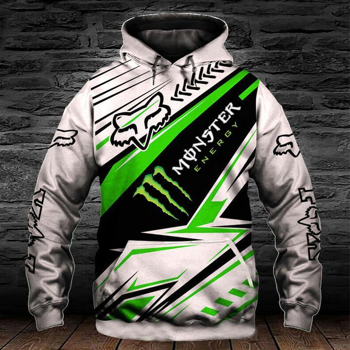 monster energy fox racing motocross supercross full printing shirt 2