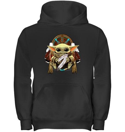 native american baby yoda hoodie