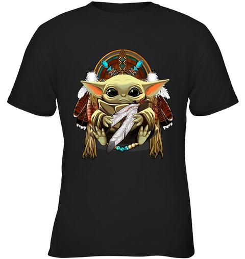 native american baby yoda shirt 1