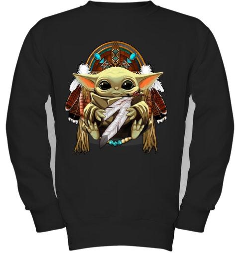 native american baby yoda sweatshirt