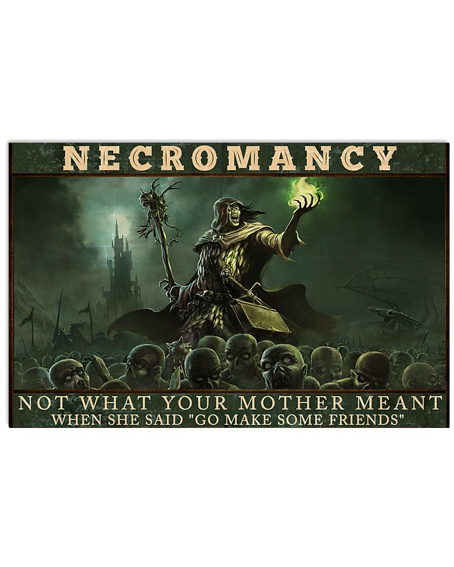 necromancy not what your mother meant when she said go make some friends poster 2