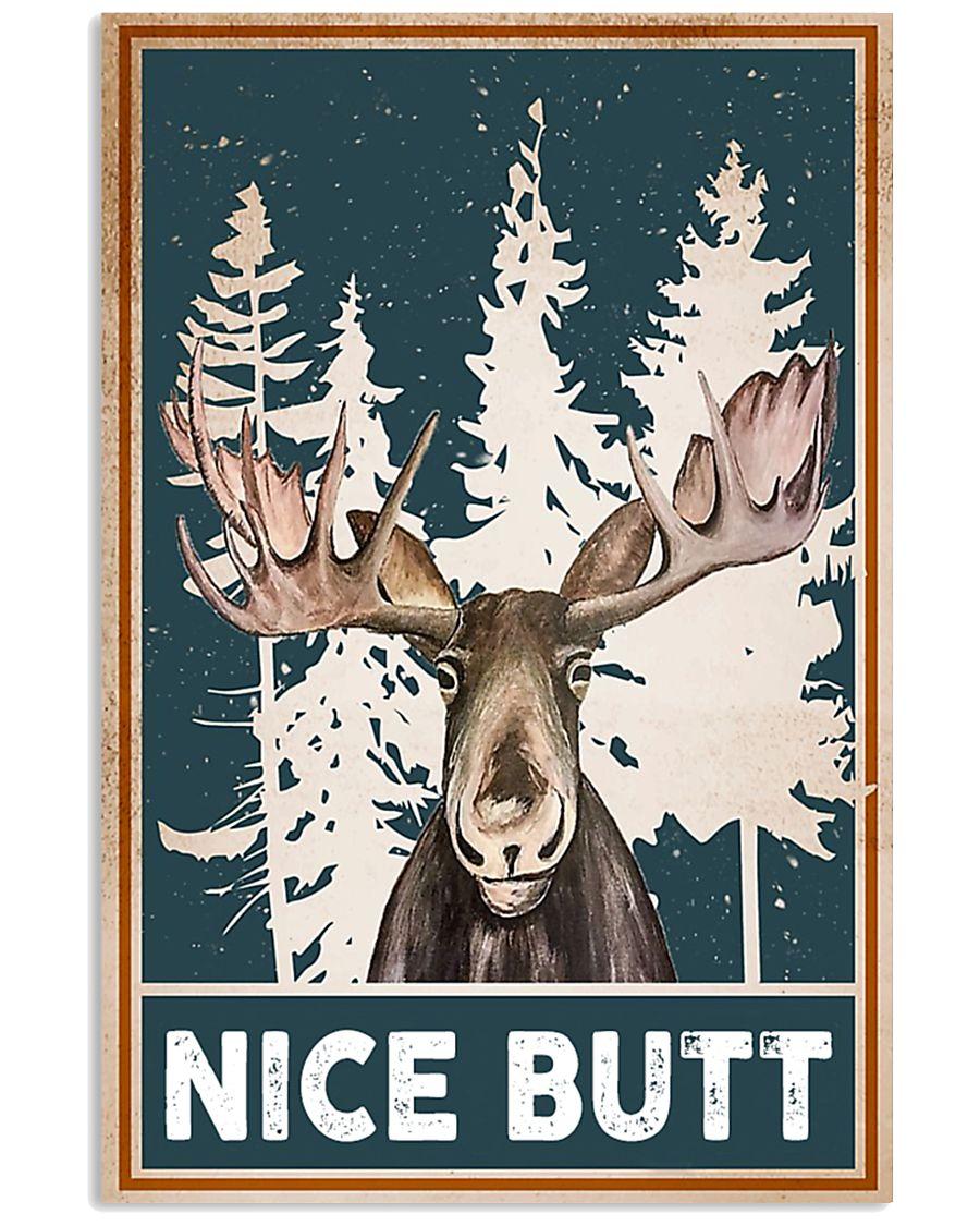 nice butt deer winter poster 1