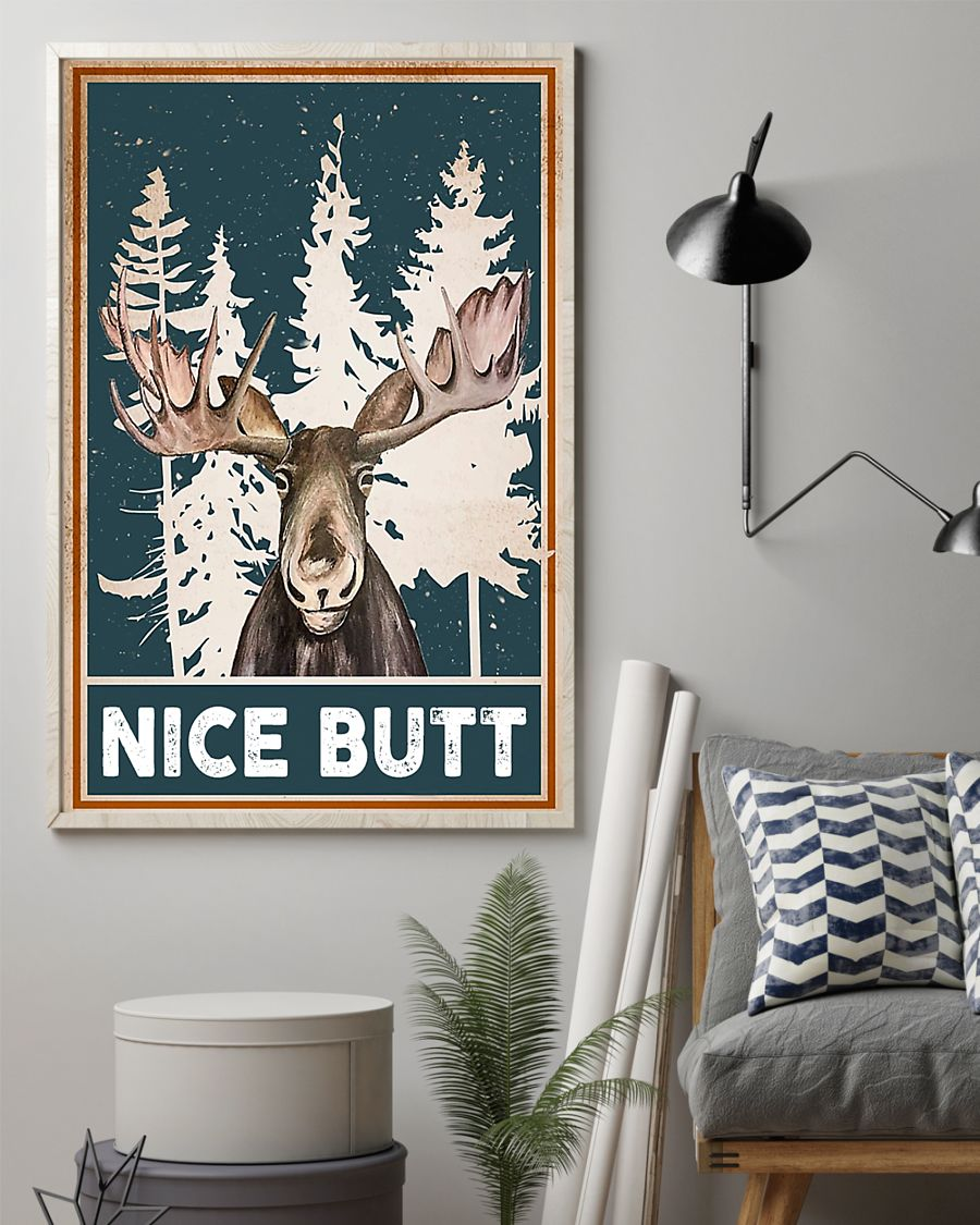 nice butt deer winter poster 2
