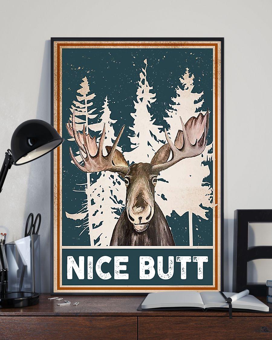 nice butt deer winter poster 4