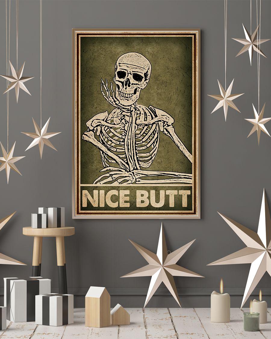 nice butt skeleton retro poster 4
