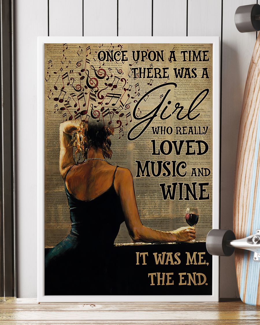 once upon a time there was a girl who really loved music and wine poster 2
