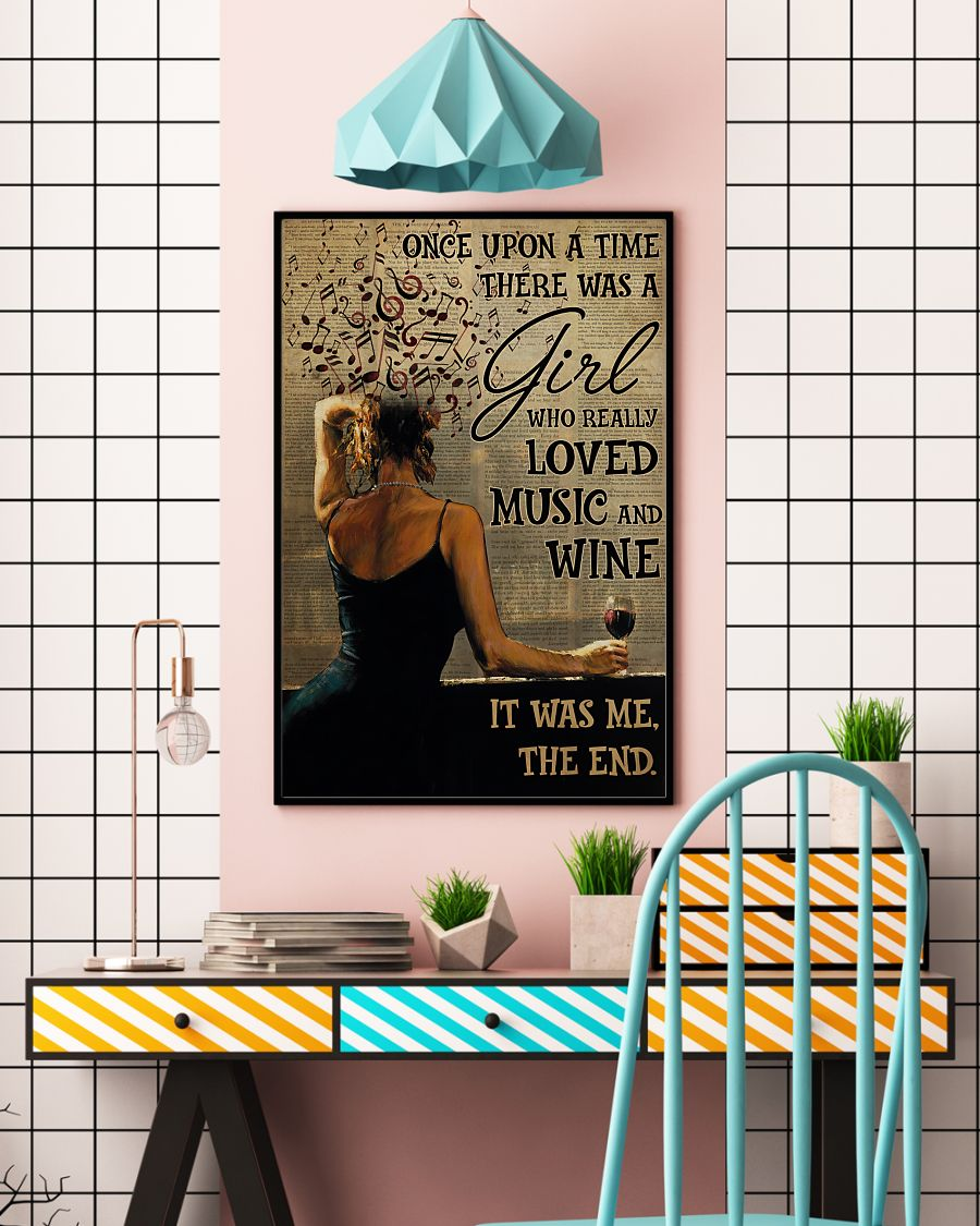 once upon a time there was a girl who really loved music and wine poster 3