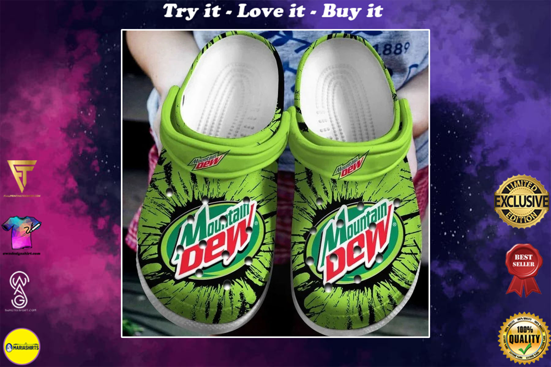 pepsico mountain dew crocs - Copy