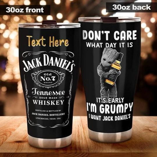 personalized name baby groot and jack daniels tumbler 1 - Copy (2)
