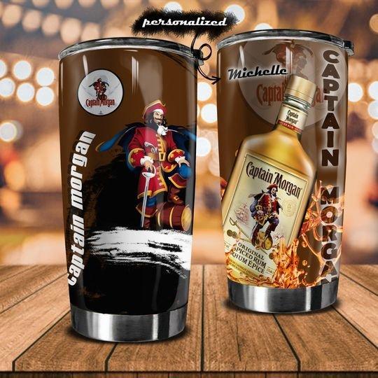 personalized name captain morgan original spiced rum tumbler 1