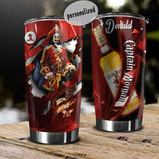 personalized name captain morgan wine tumbler 1