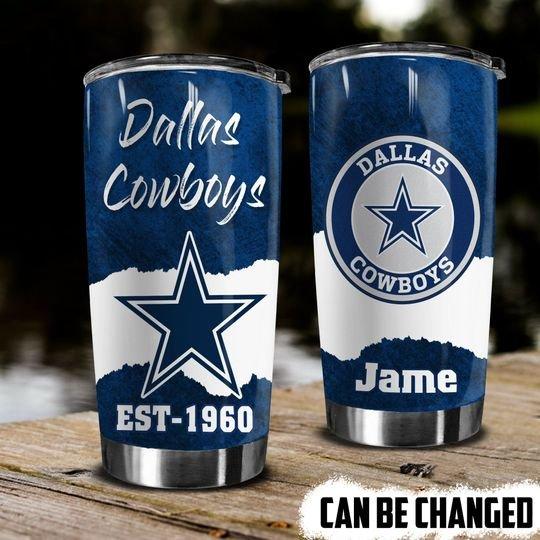 personalized name dallas cowboys football team tumbler 1