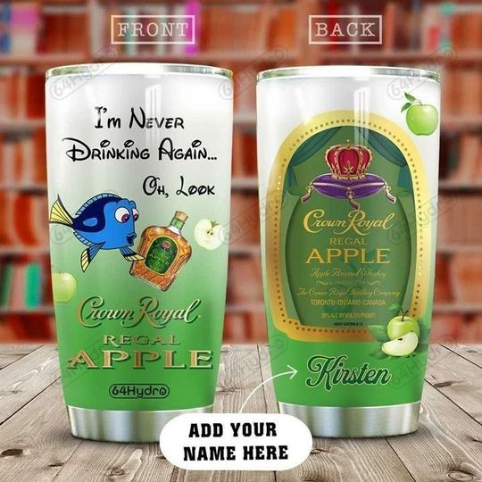 personalized name dory and crown royal regal apple tumbler 1