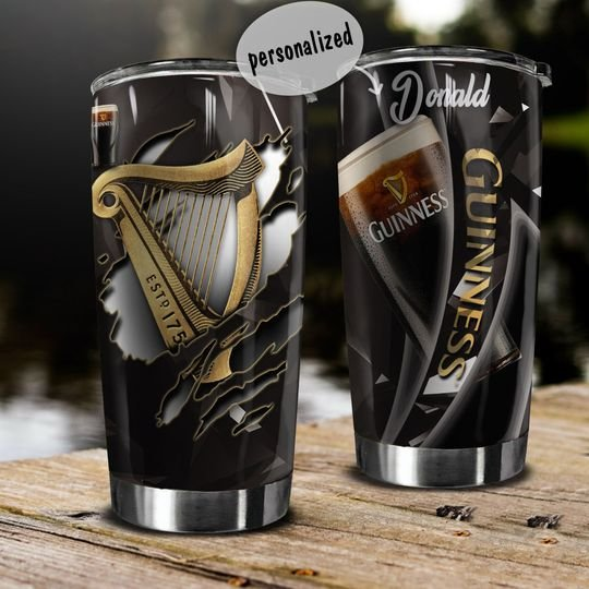personalized name guinness beer tumbler 1