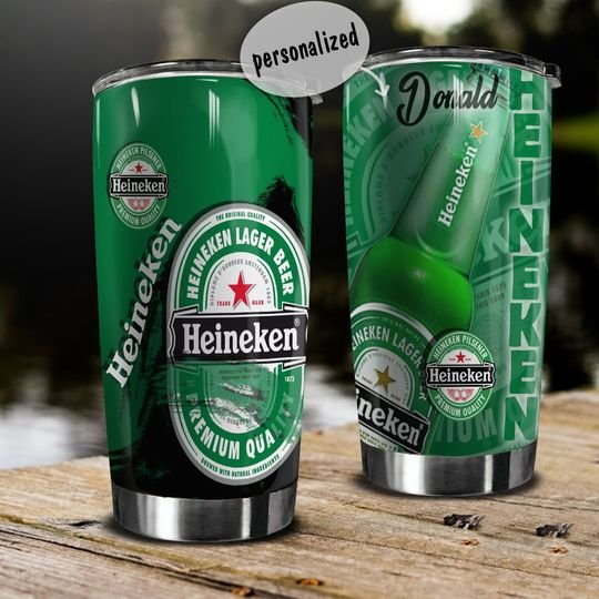 personalized name heineken lager beer tumbler 1