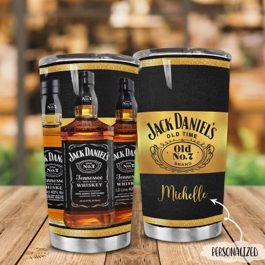 personalized name jack daniels old time no 7 tumbler 1