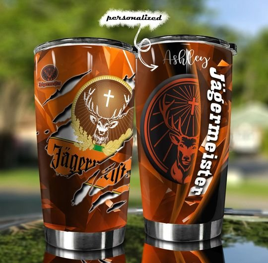 personalized name jagermeister wine tumbler 1