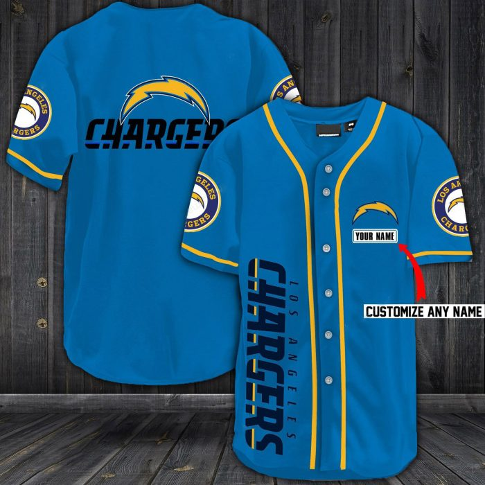 personalized name jersey los angeles chargers shirt 1