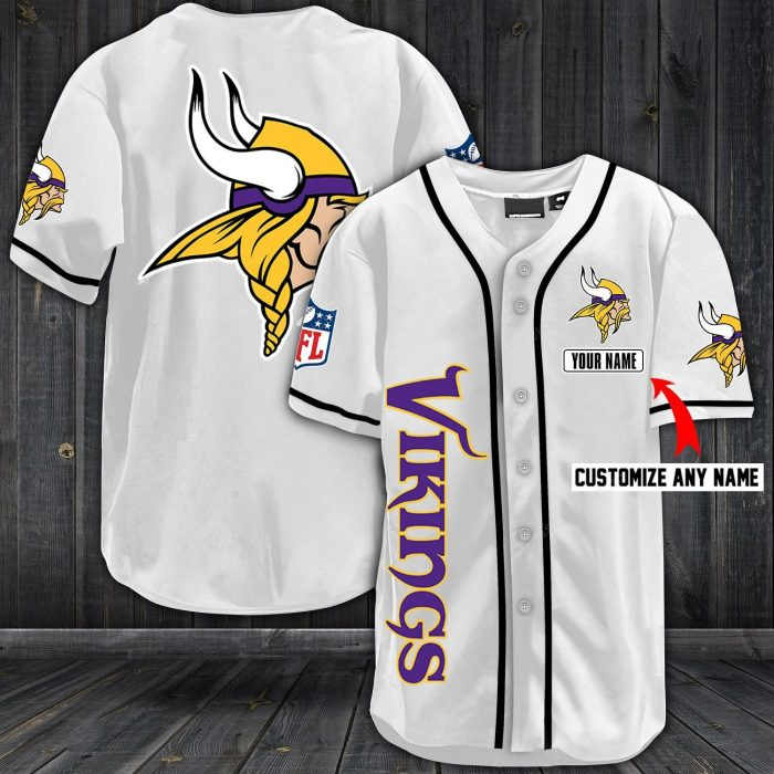 personalized name jersey minnesota vikings full printing shirt 1