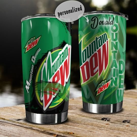 personalized name mountain dew energy drink tumbler 1