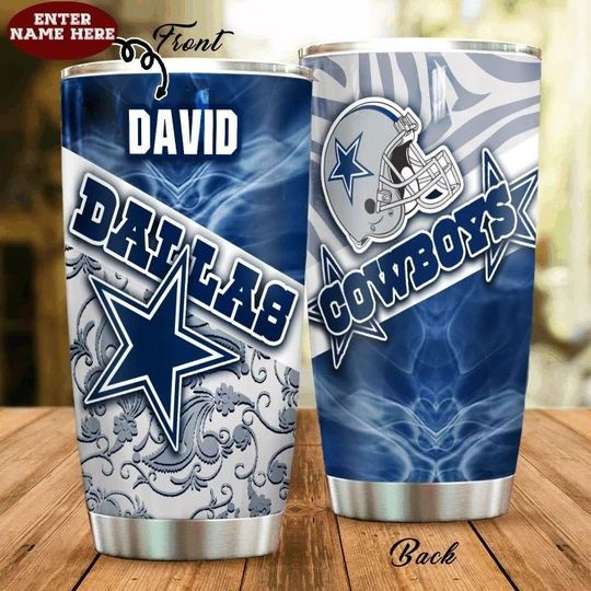 personalized name national football league dallas cowboys tumbler 1