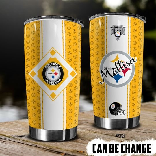 personalized name national football league pittsburgh steelers tumbler 1