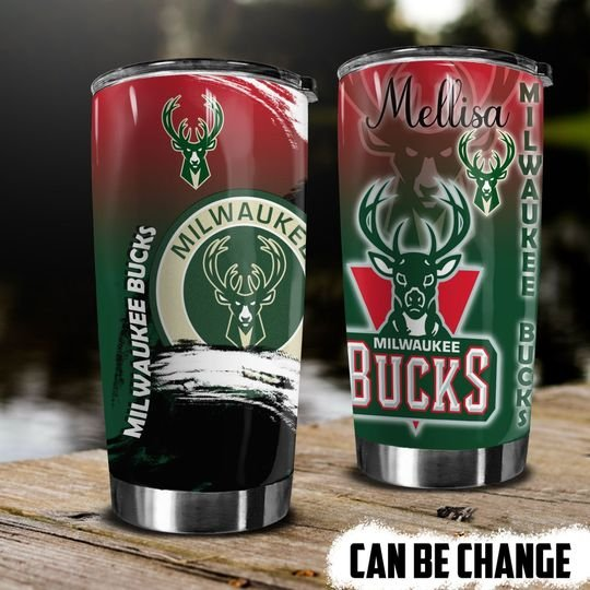 personalized name nba milwaukee bucks tumbler 1