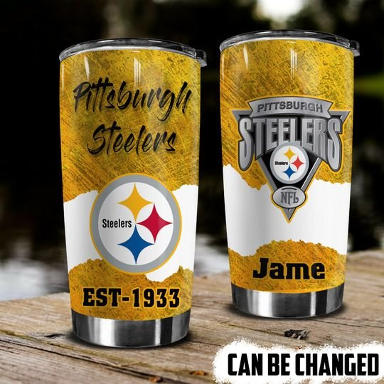 personalized name pittsburgh steelers football team tumbler 1