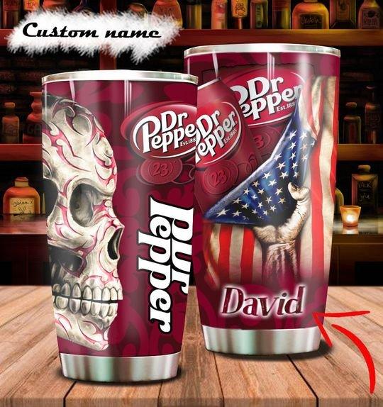 personalized name sugar skull dr pepper tumbler 1 - Copy