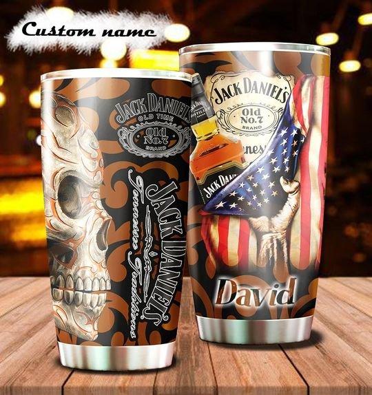personalized name sugar skull jack daniels whiskey tumbler 1 - Copy (3)