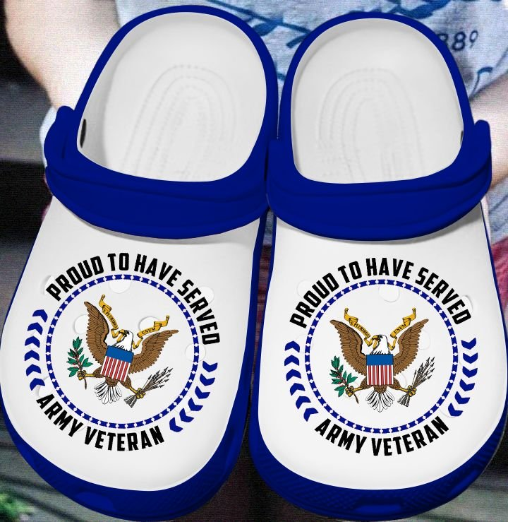 proud to have served army veteran crocs 1