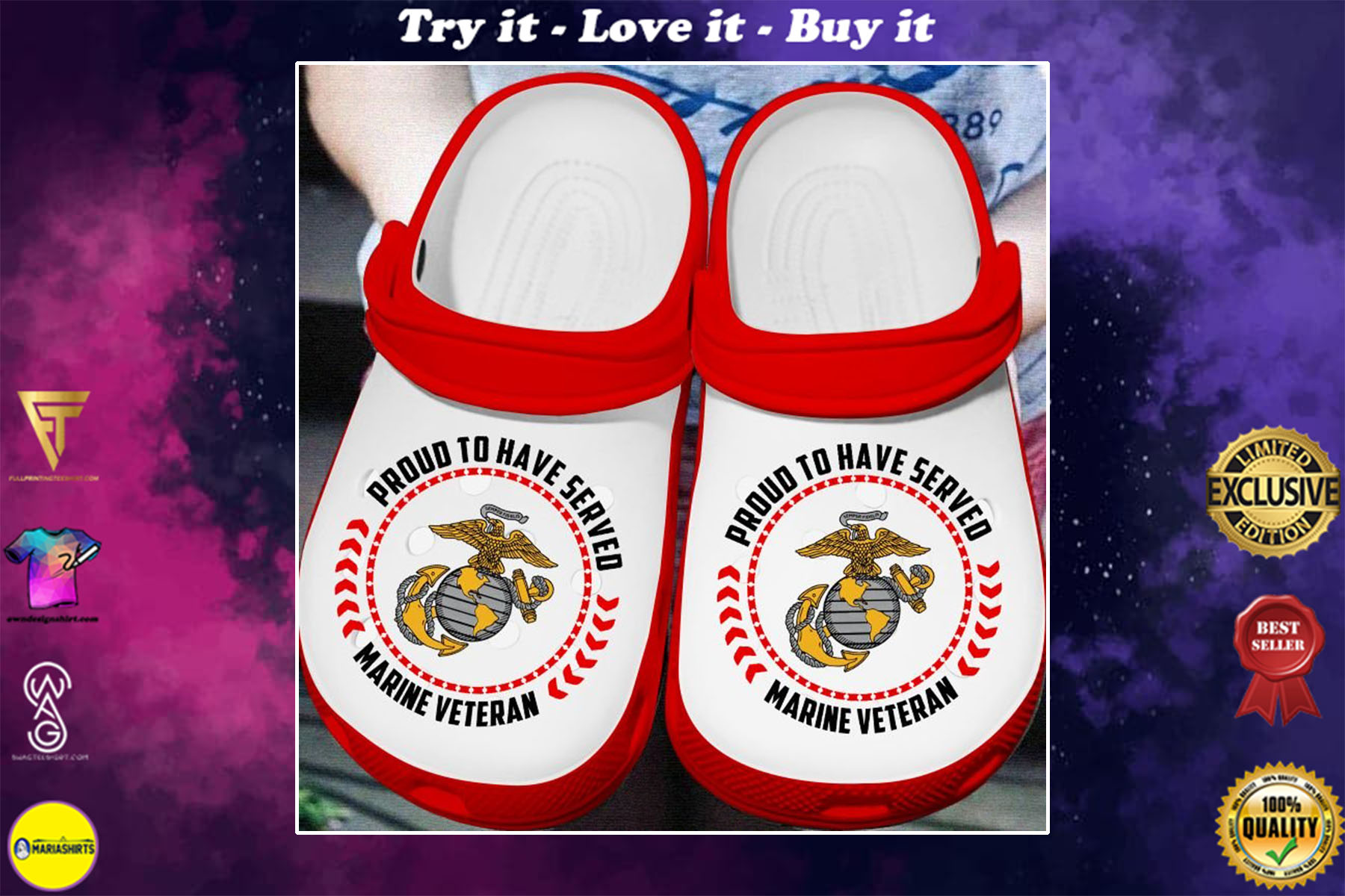 proud to have served marine veteran crocs - Copy