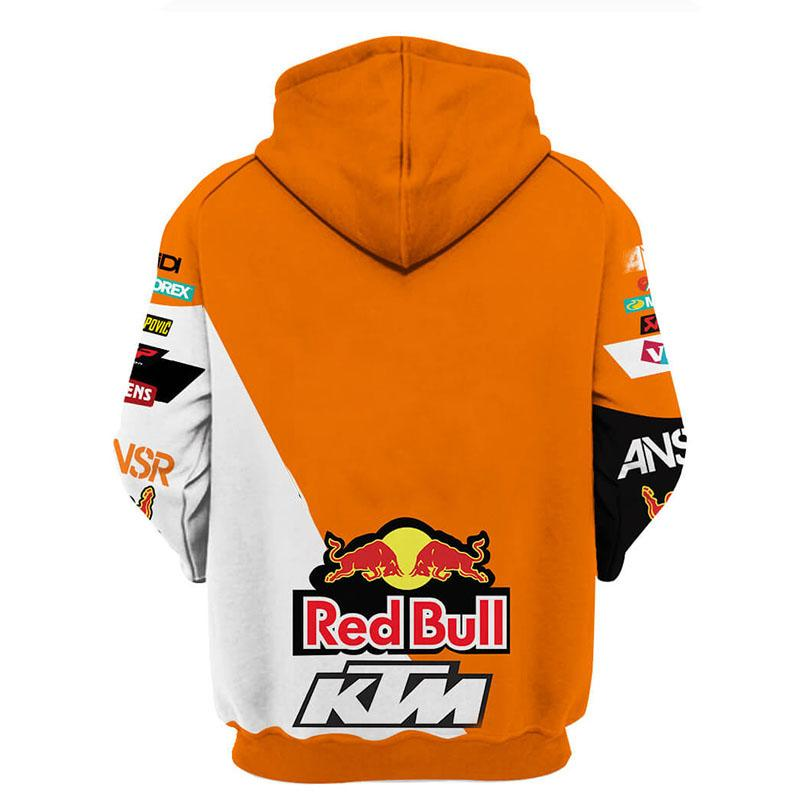 red bull answer racing ktm motorcycles full printing hoodie 1